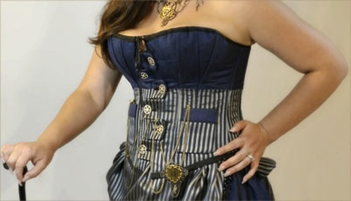 Steampunk Worthy Button Tab Corsets by Butterfly Frillies