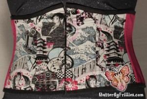 Anime Geisha Woman Art Waist Cincher