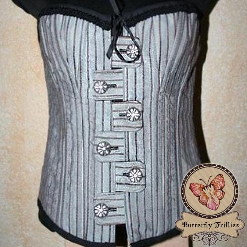 Silver Pin Stripes